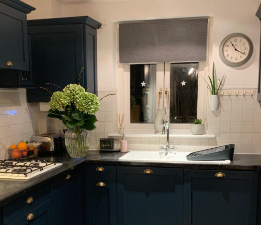 Decorbuddi Dark Blue Kitchen